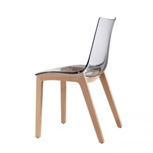 SILLA NATURAL ZEBRA TRANSPARENTE