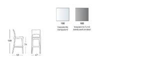 Taburete transparente de diseño