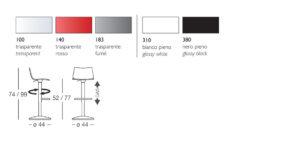Taburete de diseño giratorio