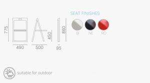 Enjoy De Muebles Plegable En Contract Soluciones 460 Silla Diseño dBeoCrx