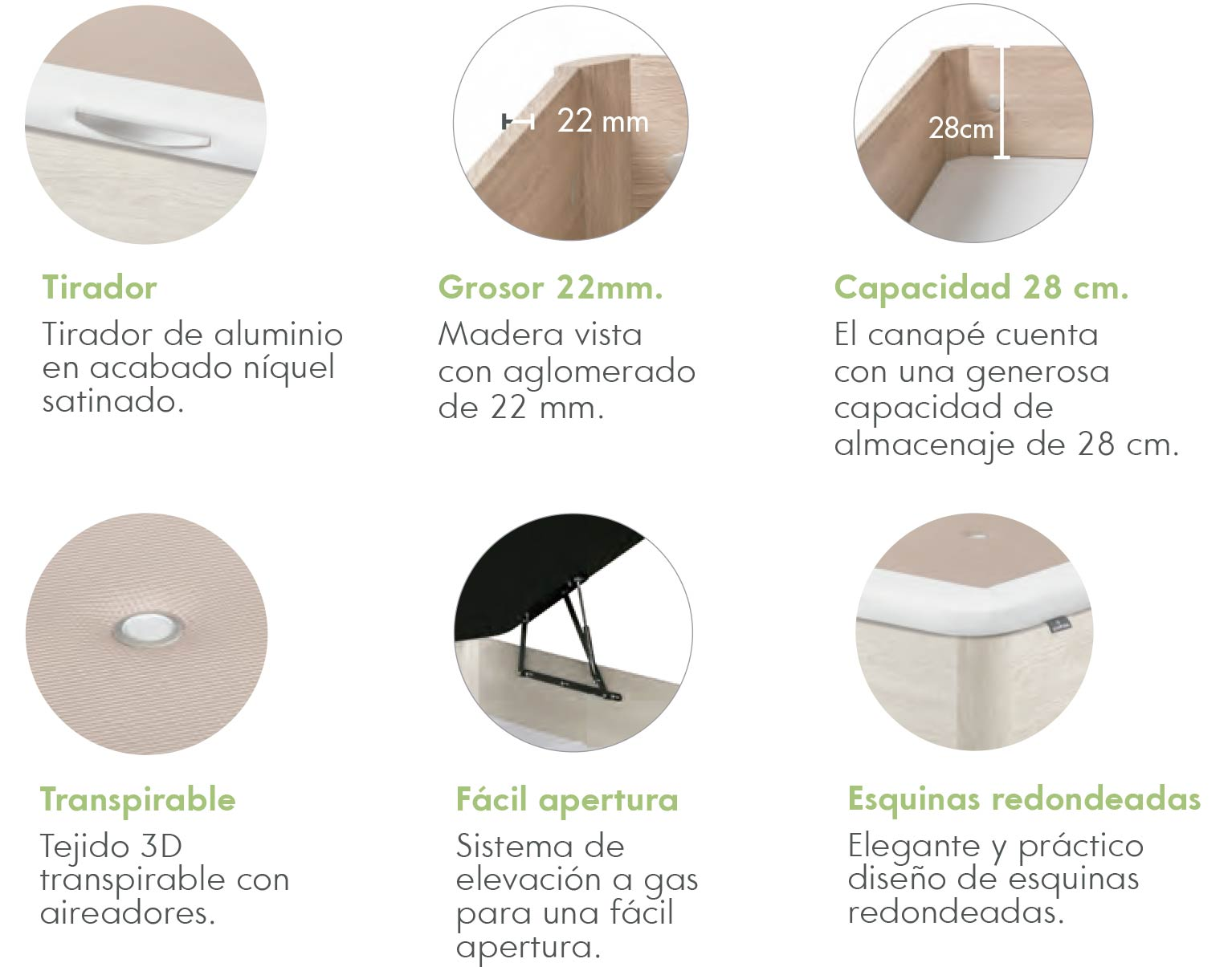 Canapé Line caracteristicas